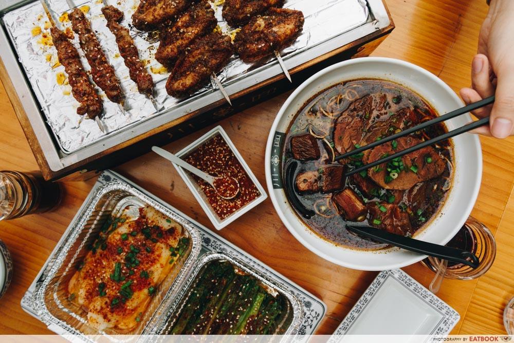 Ma La Restaurants in Town Chuan Grill & Noodle Bar Flatlay