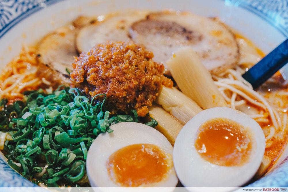 so ramen spicy tonkotsu tamago spicy minced meat