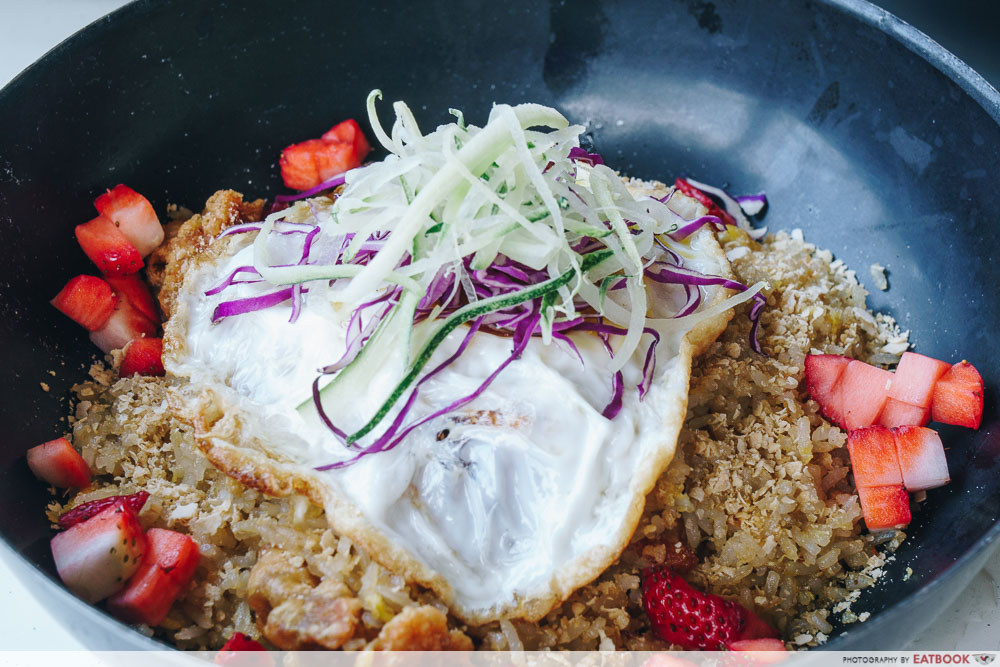 wok in burger strawberry cereal fried rice intro