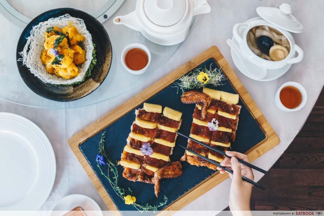 Maybank Michelin Chinese Restaurants Peony Jade flatlay