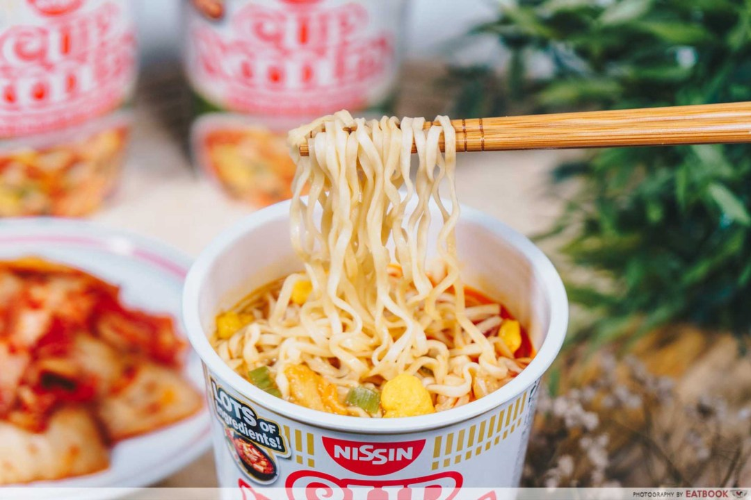 Nissin Korean Army Stew Noodles - Noodle Pull