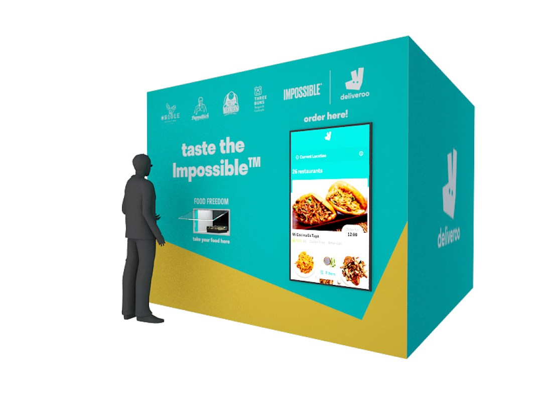Free Impossible Burger - vending machine deliveroo