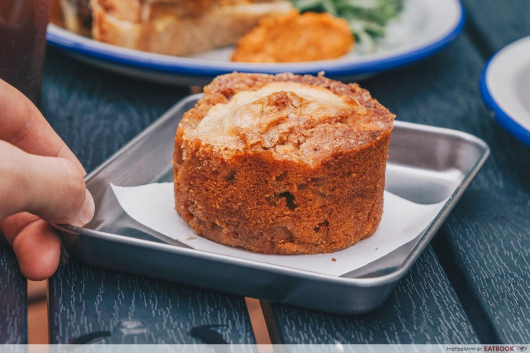 Micro Bakery and Kitchen spiced apple miso cake