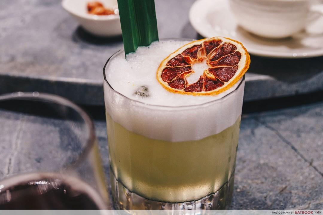 Shang Social - Jewel Pandan Pandemonium Gin cocktail