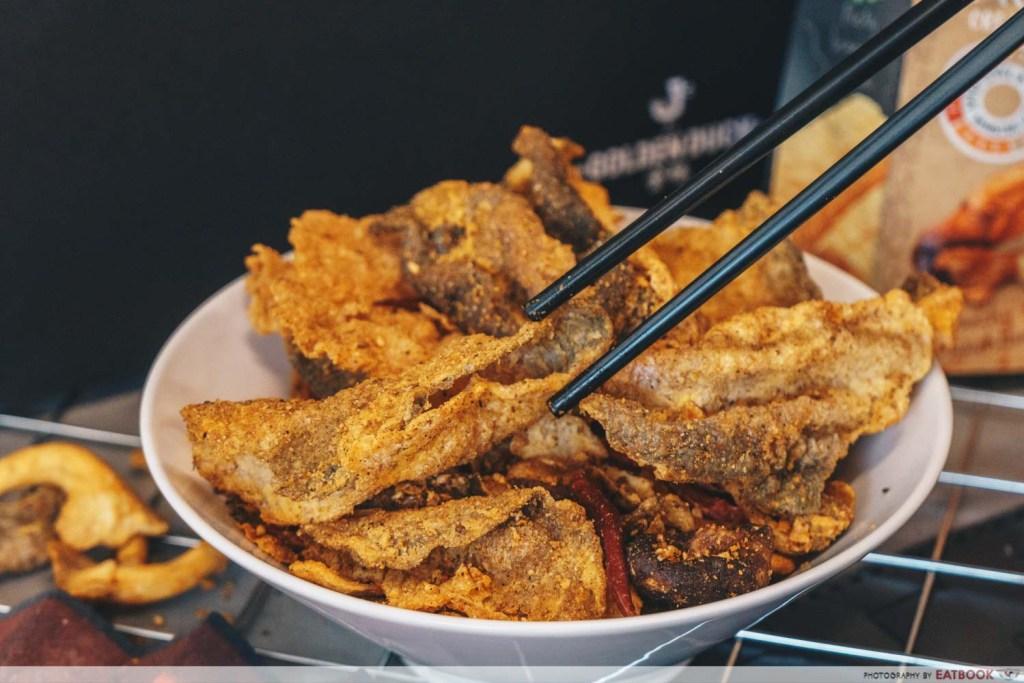 The Golden Duck Ma la fish skins