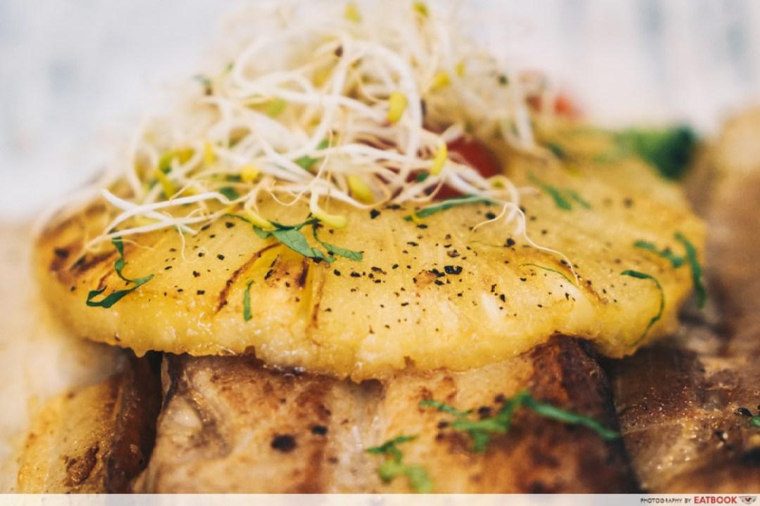 Hunger's Kitchen - pineapples on pork belly