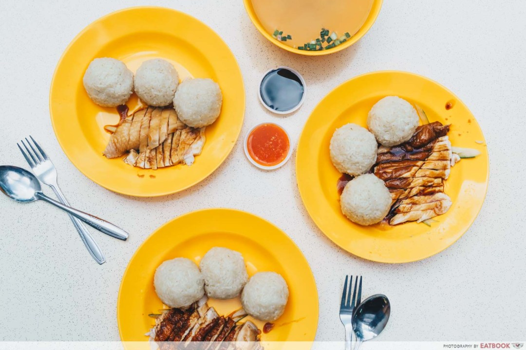 Qi Lin Xuan Chicken Rice - flatlay