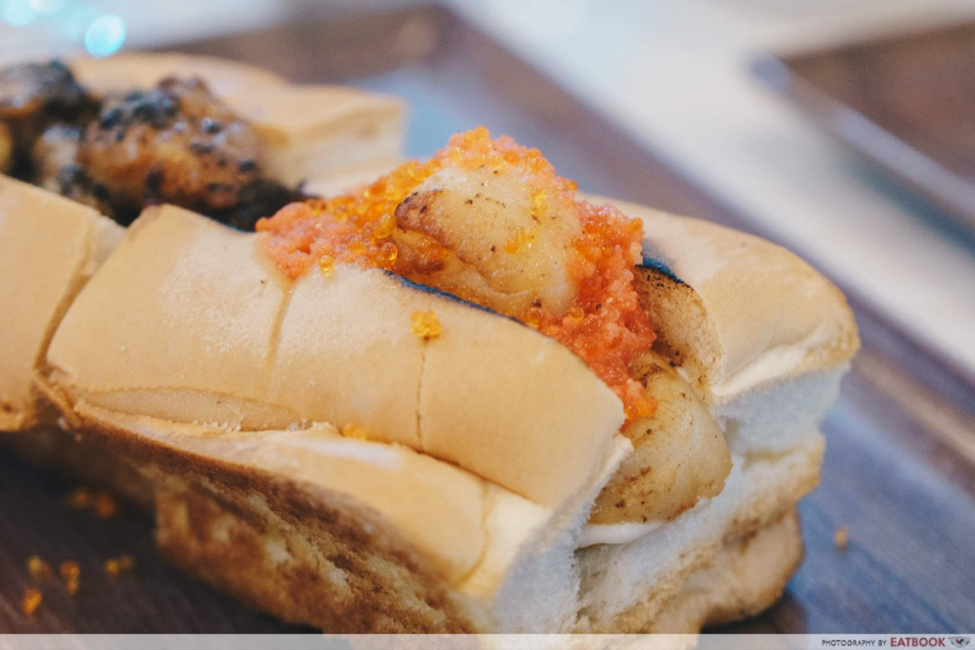New Restaurant July - Mentaiko Scallop Roll