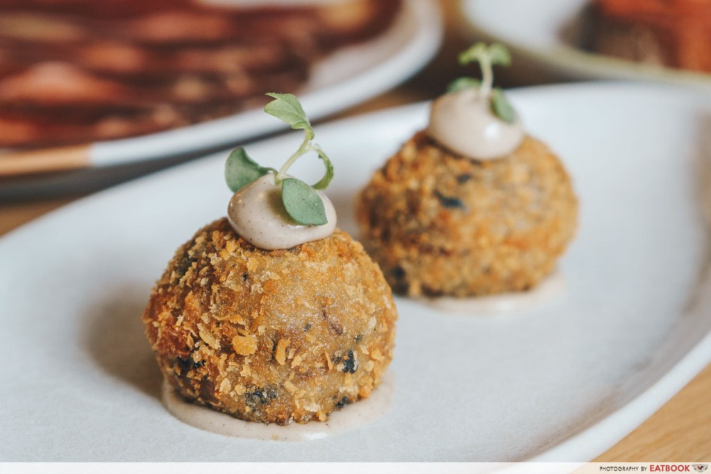 Olivia Restaurant And Lounge Mushrooms and Truffle Croquettes