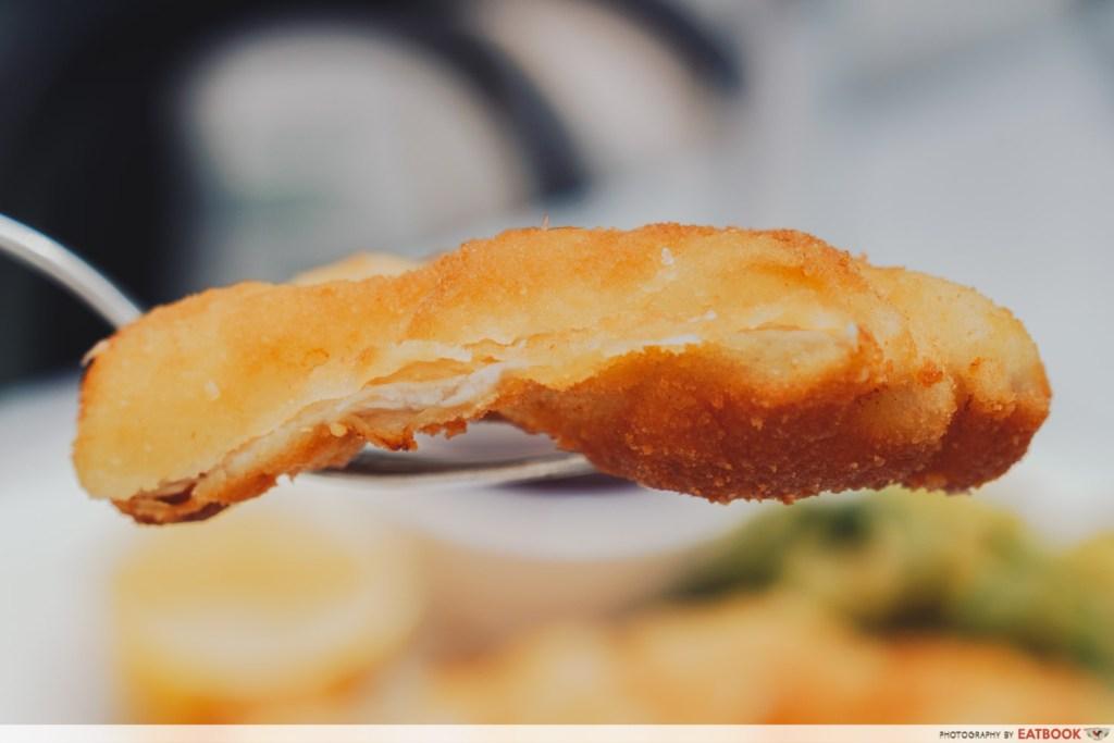 close up of the schnitzel