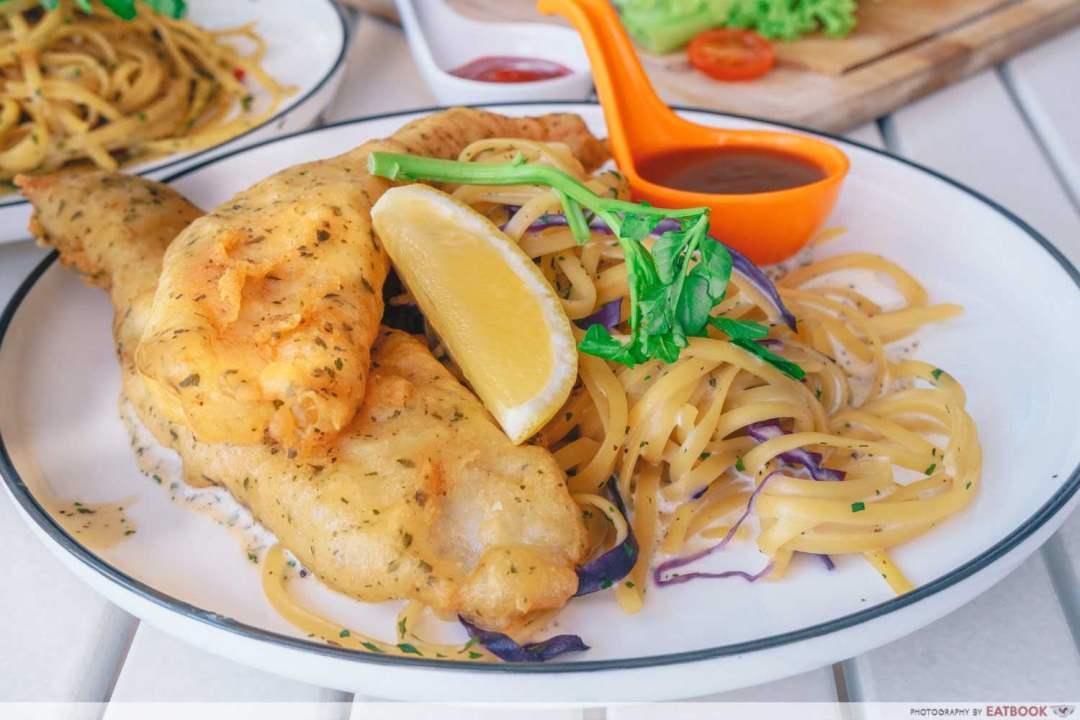Fish Carbonara