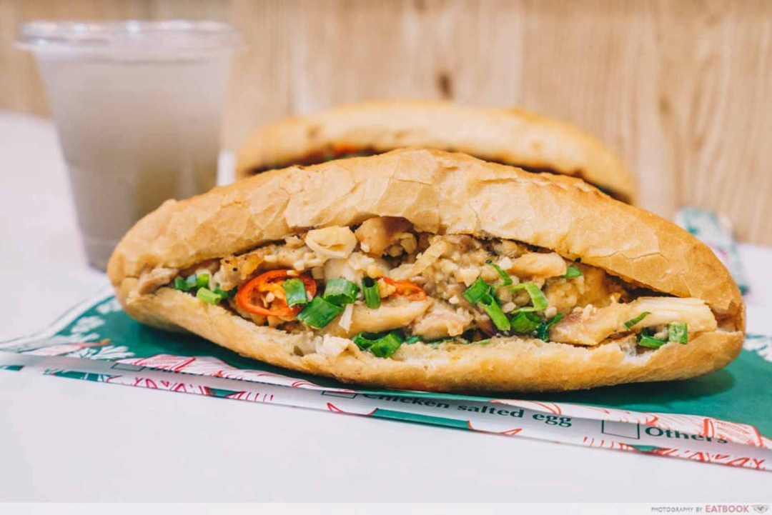 Banh You, Banh Mi - Salted egg chicken