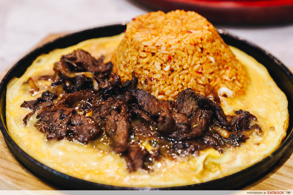 Volcanic Beef Fried Rice with Cheese
