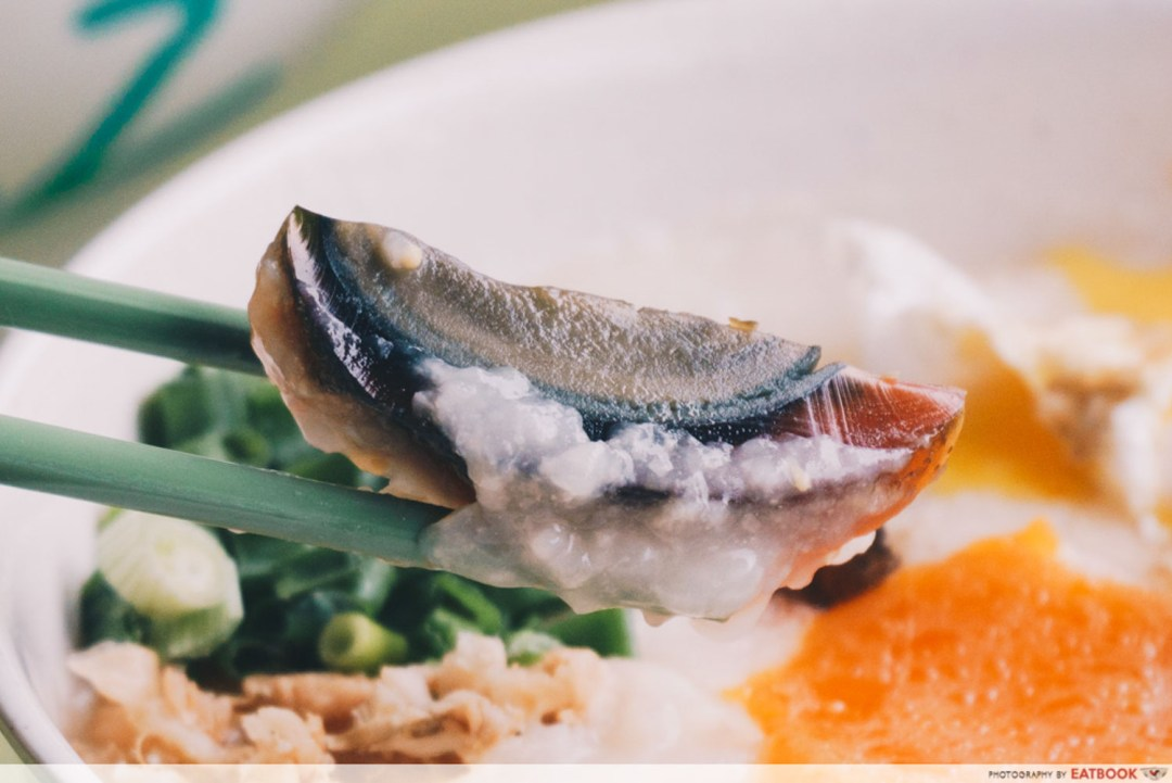 Weng Kiang Kee Porridge - Century egg