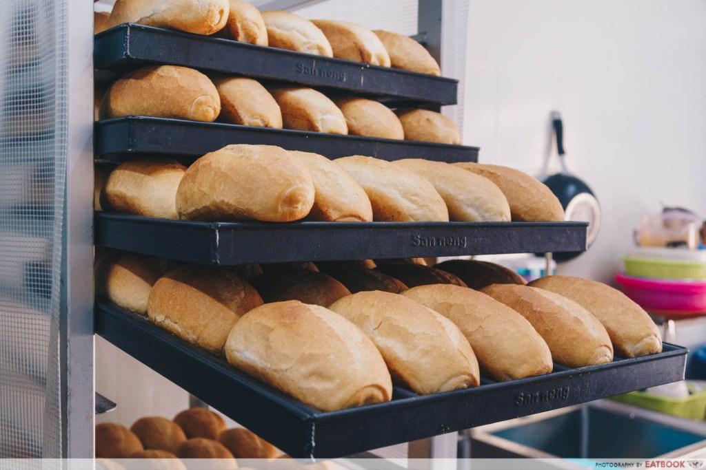 Banh Mi Thit freshly baked bread