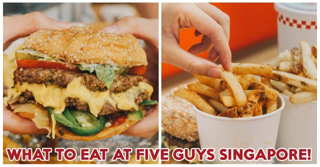 Five Guys Review: Queue-Worthy Juicy Cheeseburgers And Peanut Bacon Milkshake At Plaza Singapura - EatBook.sg - New Singapore Restaurant and Street Food Ideas & Recommendations