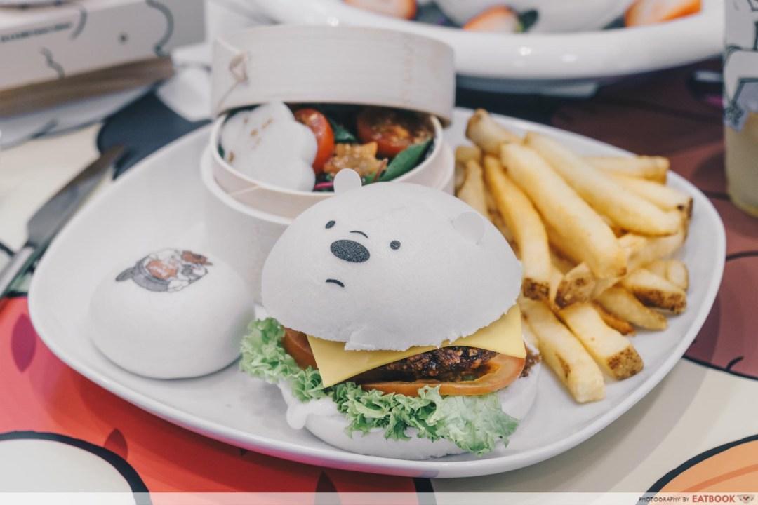We Bare Bears Cafe - Ice Bear Terrific Teriyaki Chicken Katsu Burger