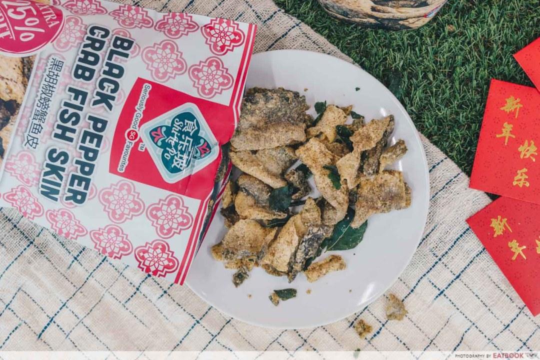 Shi Le Po - Black Pepper Crab Fish Skin
