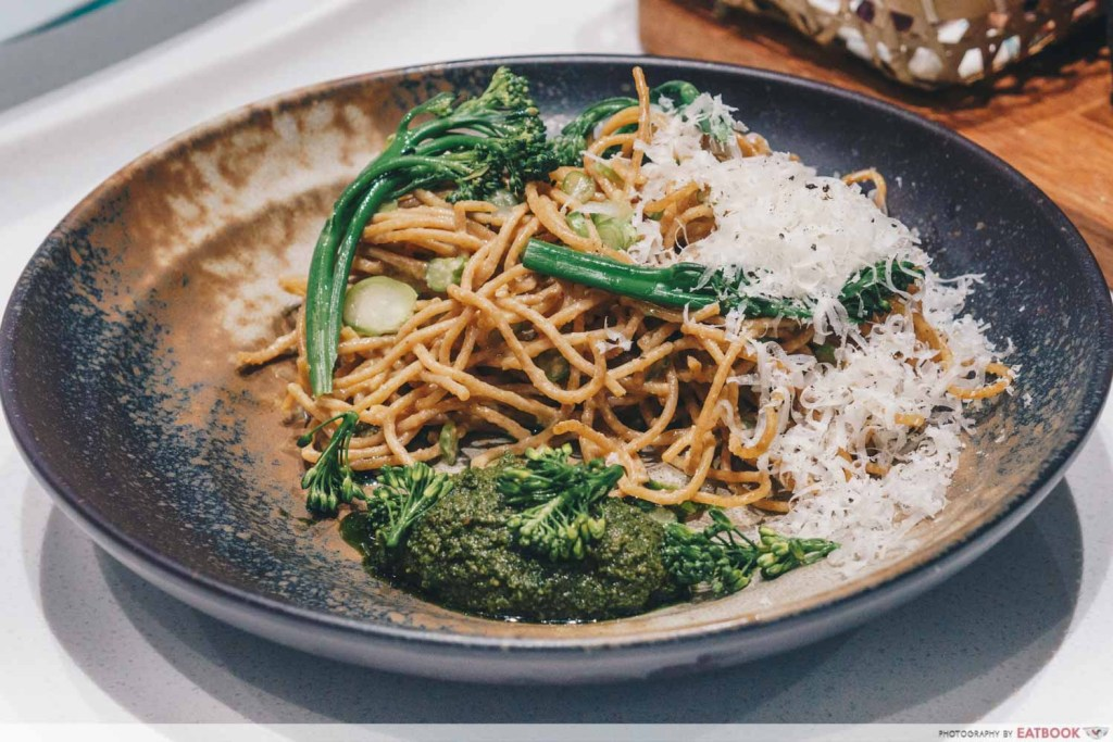 Tiong Bahru Bakery Diner Miso Whole Wheat Spaghetti with Broccolini 1