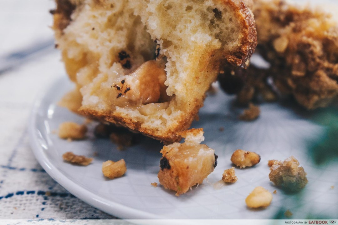AJ Delights - Apple cubes from Apple Streusel muffin