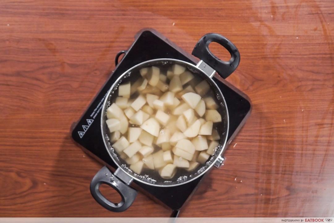 Gotcha Pork Roast - Boiling of potatoes