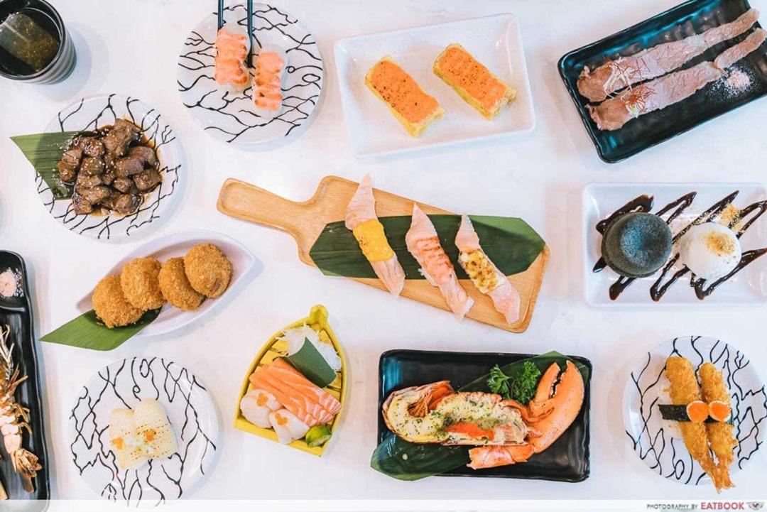 sushi plus - flatlay