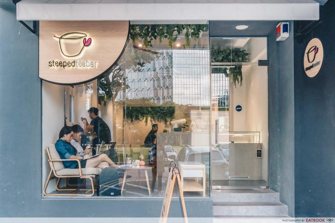 STEEPED Tea Bar - Storefront shot