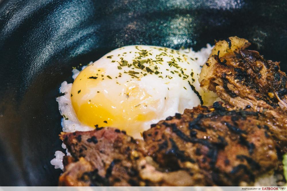 Bowl and Grill- Onsen egg from teppanyaki steak