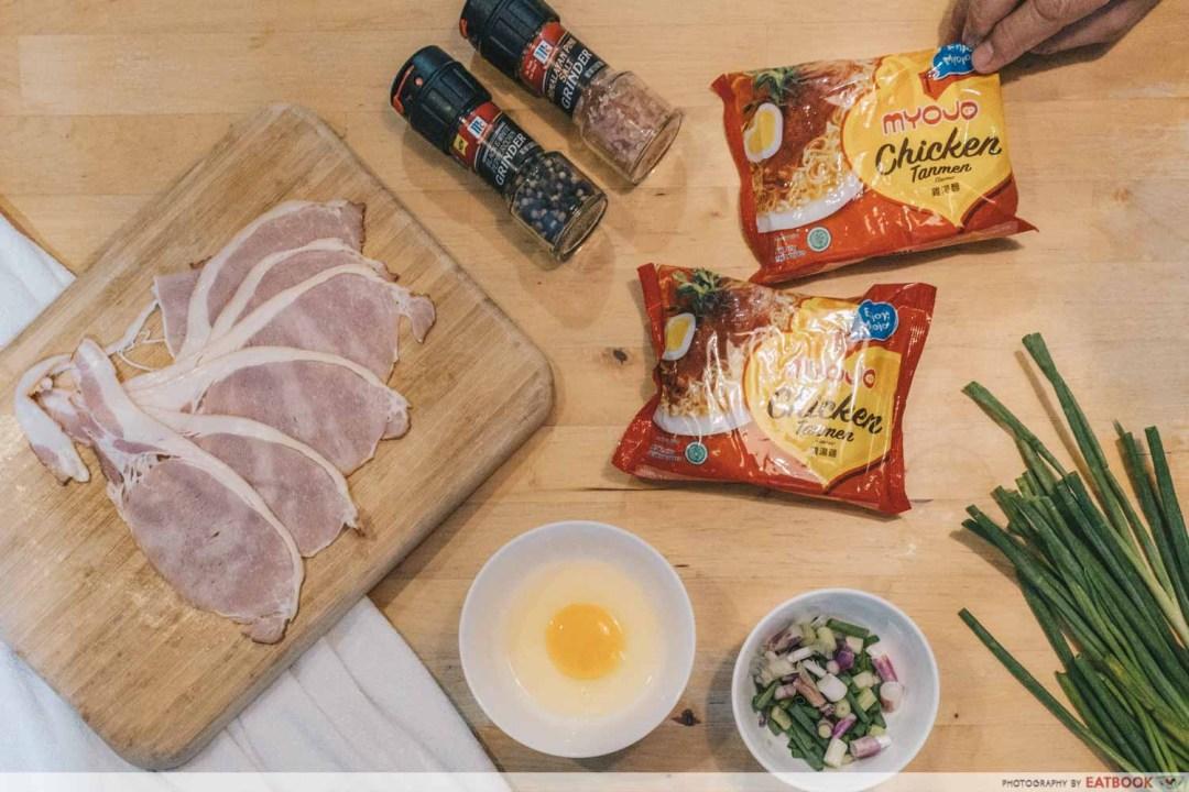 Instant Noodles Recipes - Poor Man's Tonkotsu Flatlay