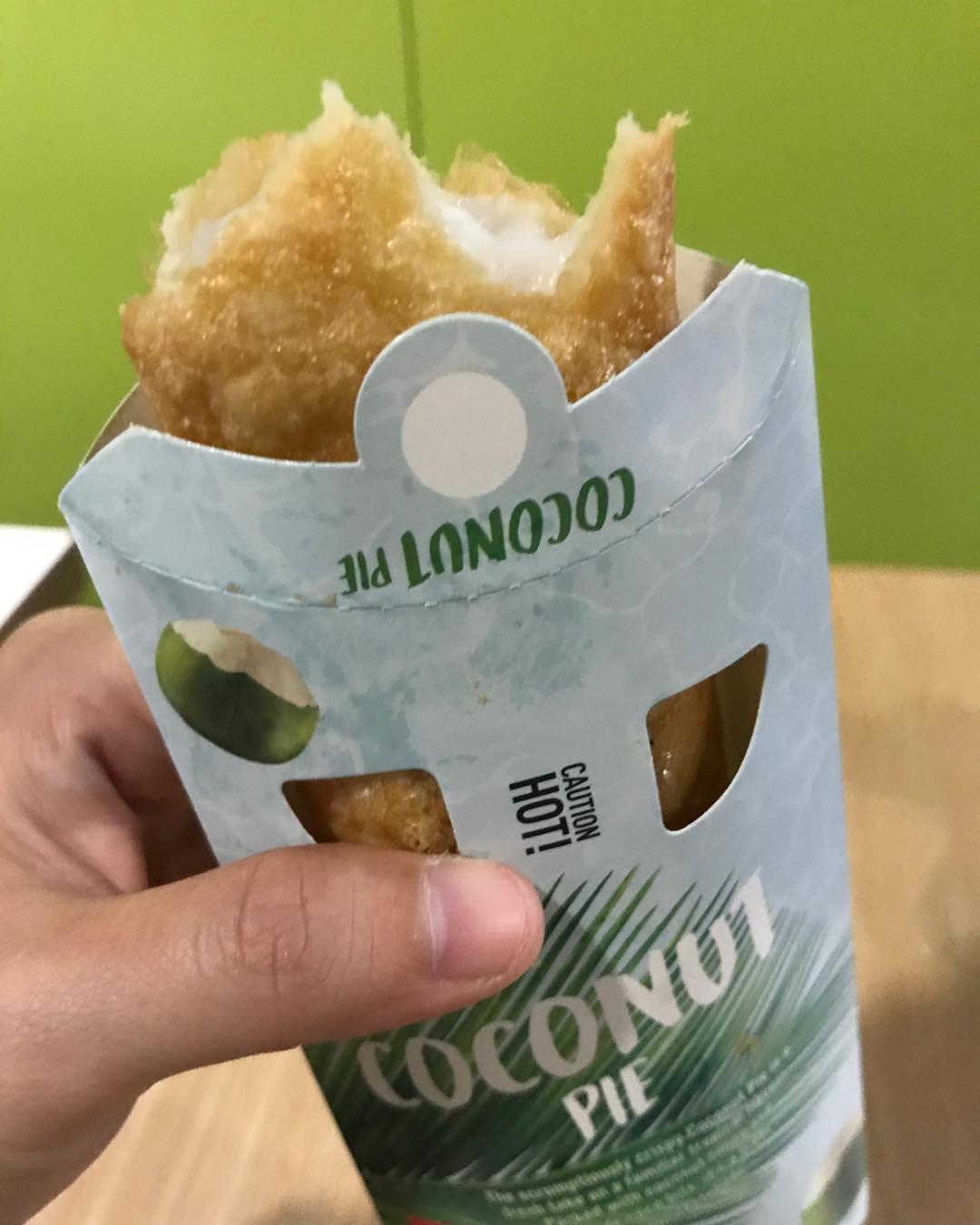 McDonald's Crispy Chicken - Coconut Pie