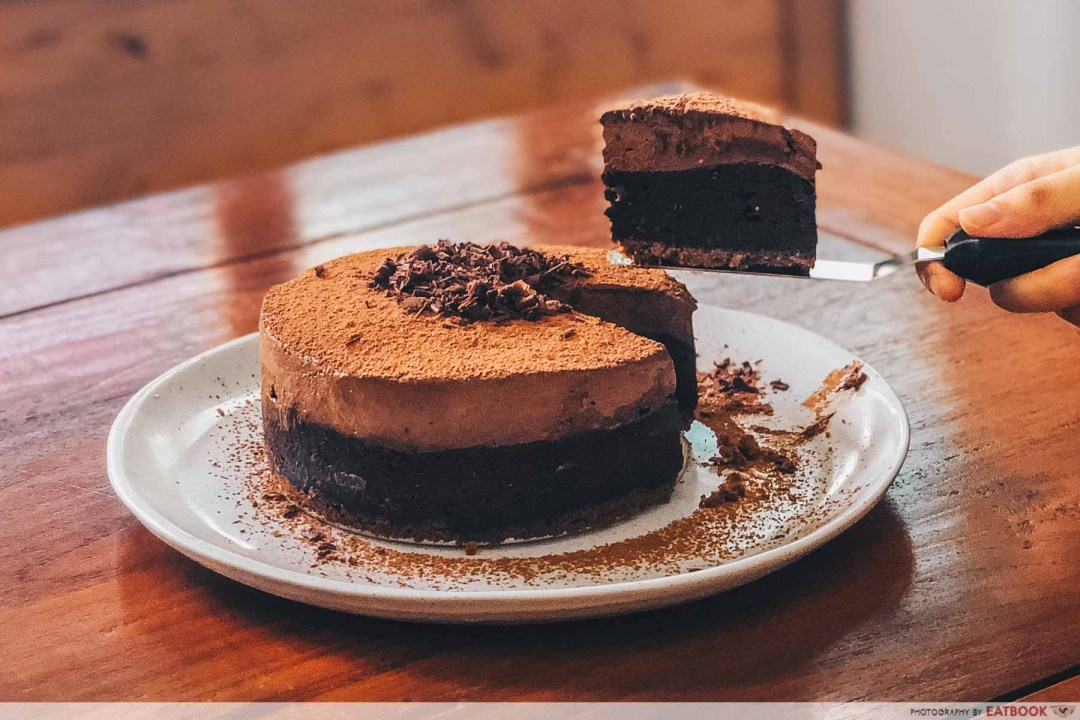 Milo Recipes - Milo Brownie Mousse Cake Slice