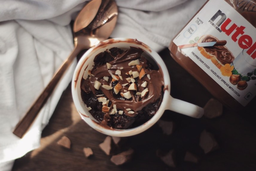 Mug Cake Recipes - Nutella Mug Cake