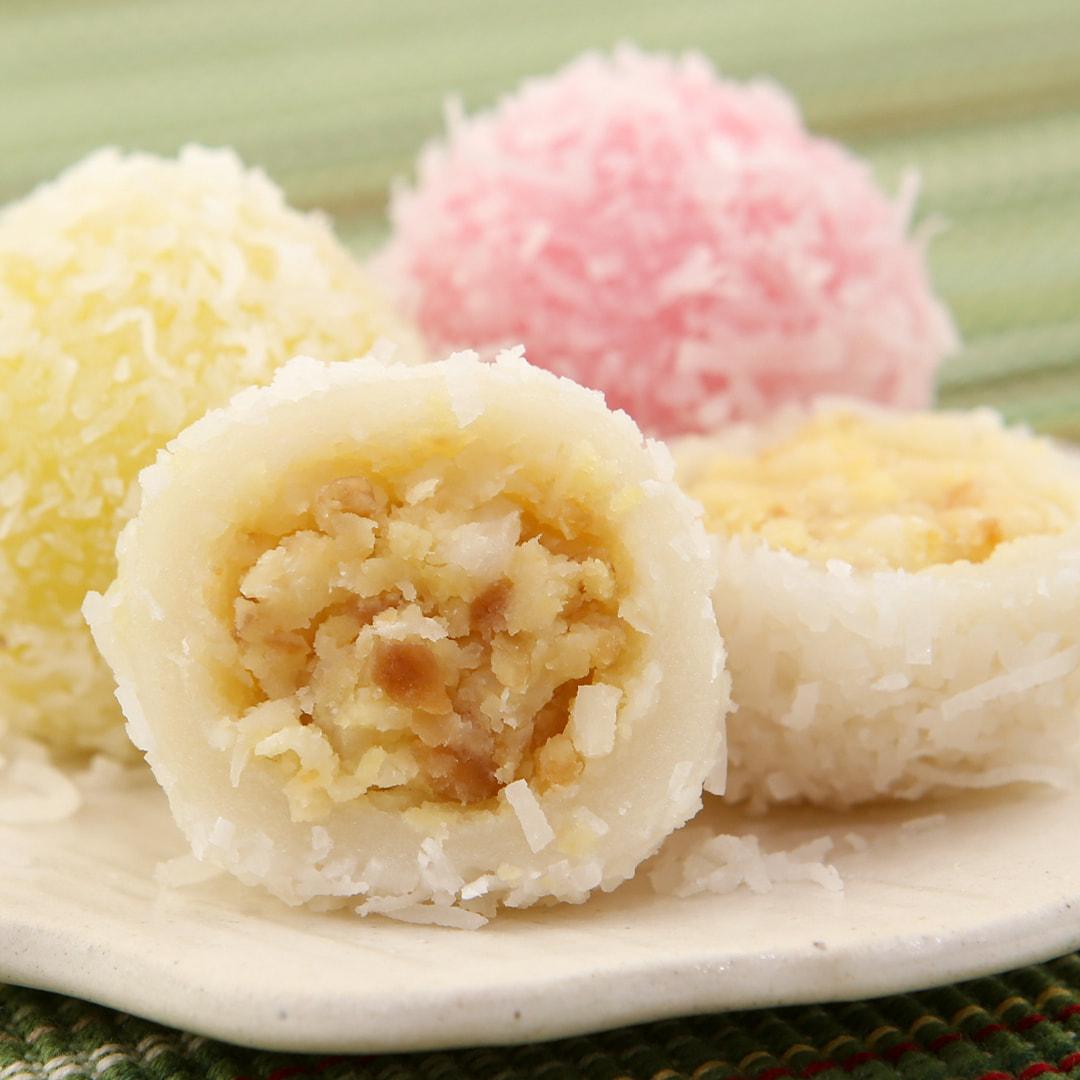 No-Bake Asian Desserts - Banh Bao Chi Close up
