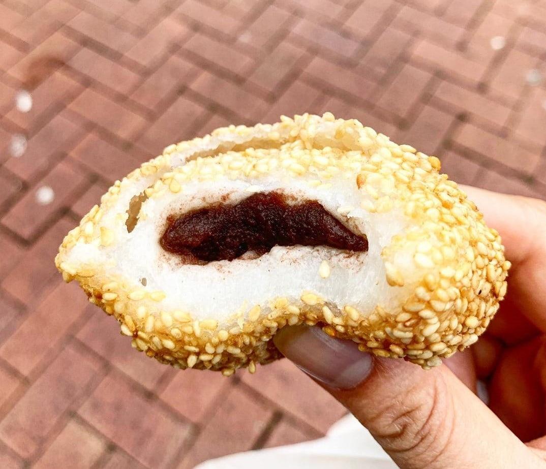 No-Bake Asian Desserts - Fried Sesame Balls Close up