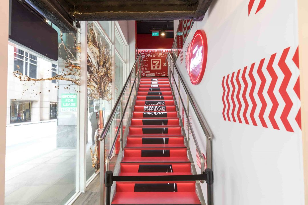 Branded Staircase Area