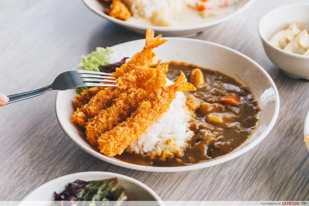 Kuroshiro - fried shrimp brown curry rice