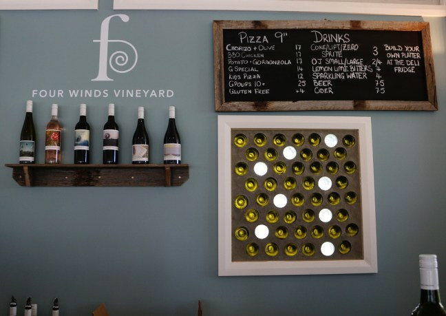 Four Winds Vineyard - pizza and wine