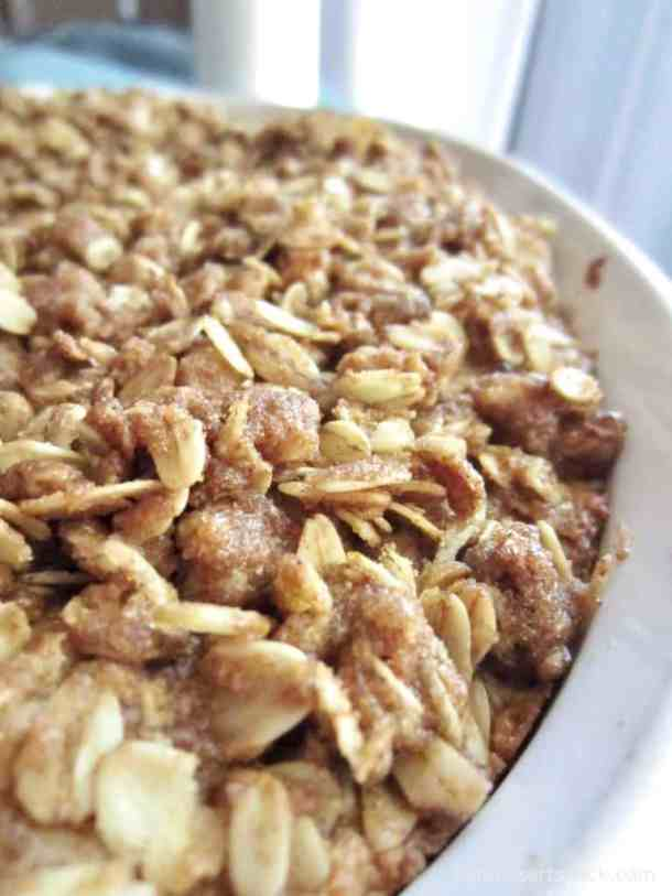A Classic Coffee Cake recipe perfect for a weekend or holiday breakfast. The cinnamon, oat and nut topping is to die for!