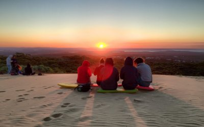 Discover one of Queensland's best sunsets at Carlo Sandblow
