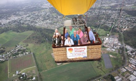 Hot air balloon flight over Ipswich