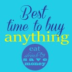 Best Time to Buy Anything- September Edition