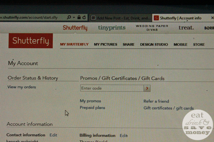 Save money on shutterfly with promos