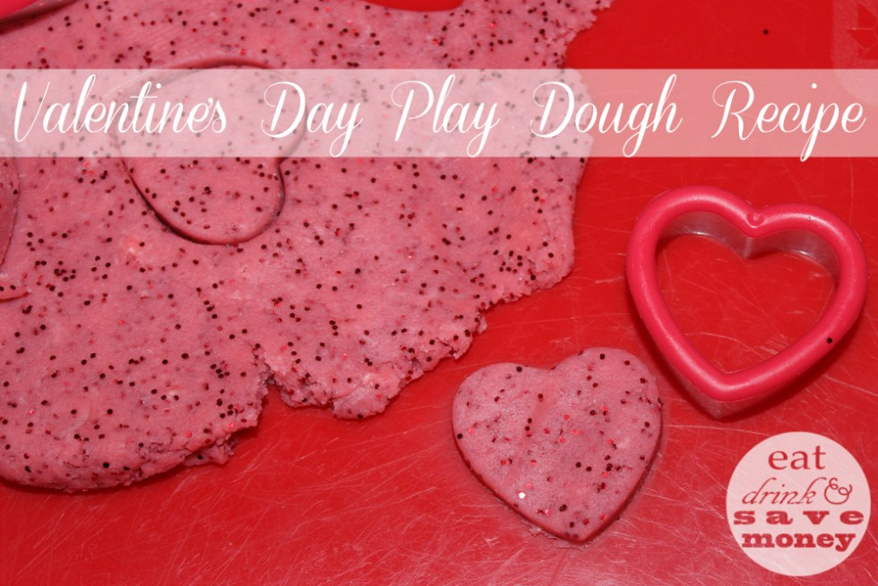 Valentines Day Play Dough Recipe is easy
