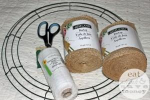 burlap wreath supplies