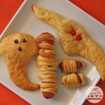 Halloween themed crescent roll snacks