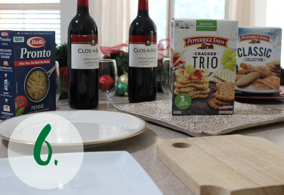 Step 6 of hosting an easy holiday party