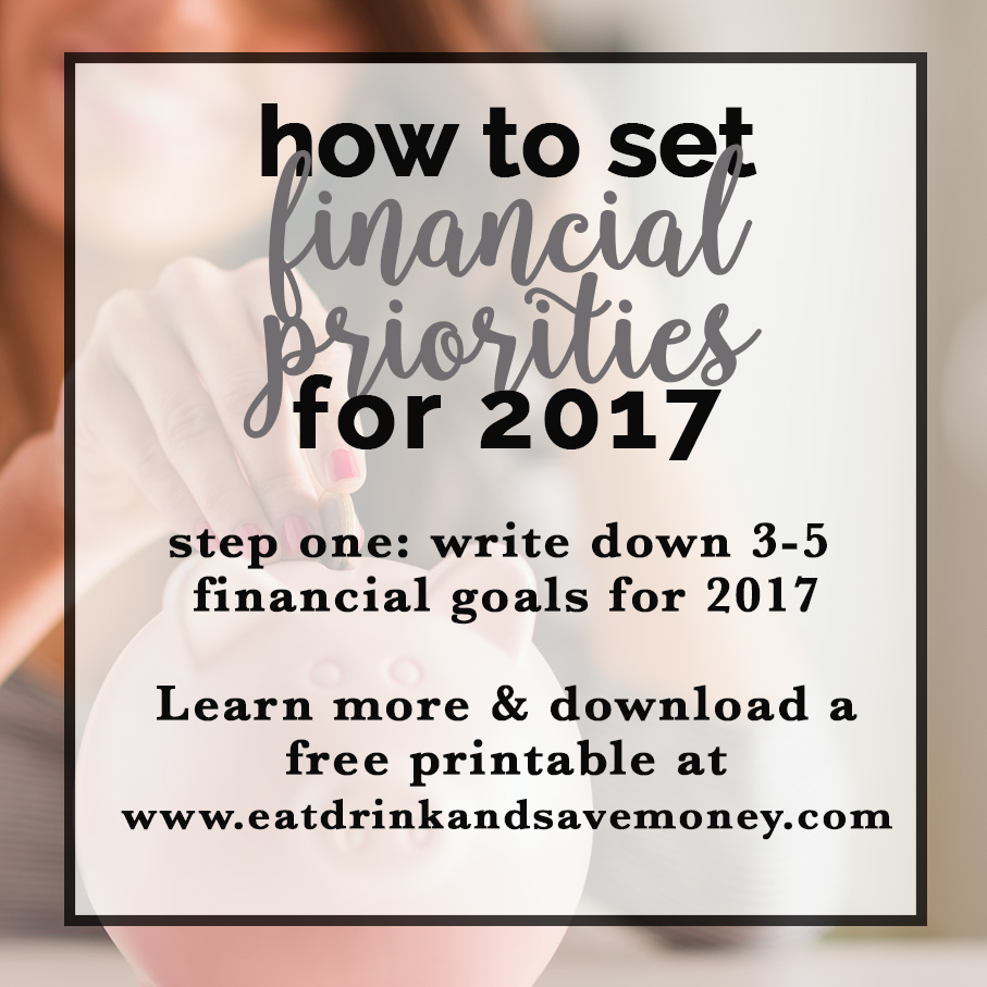 How to set financial priorities for 2017