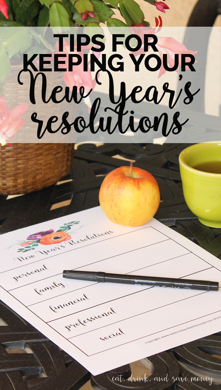 Tips for keeping your New Year's resolutions. Follow these tips for the new year