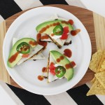 Taco Spiced Lentil and Black Bean Quesadillas