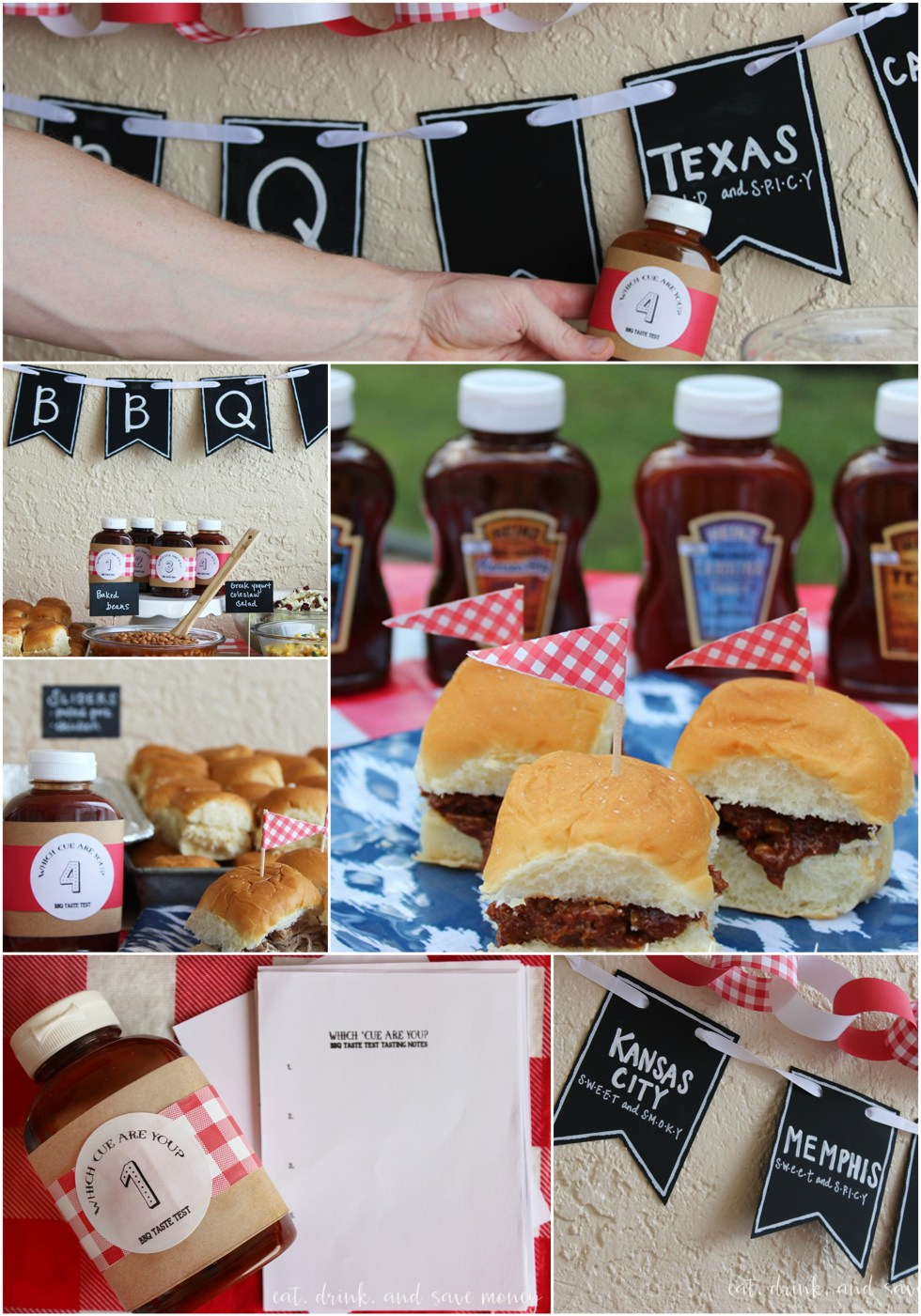 BBQ taste testing party collage